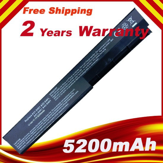 6cells 6cells Laptop Battery For Asus X301A X301U X401 X401A X401U X501 X501A X501U A31-X401 A32-X401 A41-X401 A42-X401 new genuine 14 4v 5200mah 74wh 8 cells a42 g55 notebook li ion battery pack for asus g55 g55v g55vm g55vw laptop