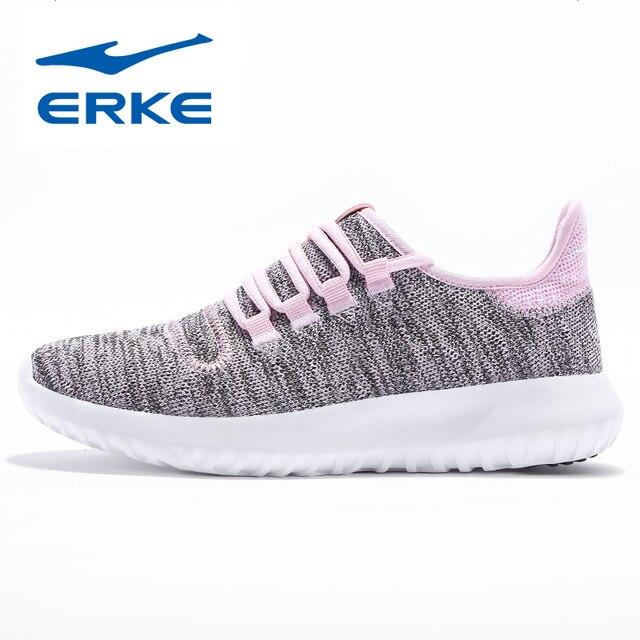 Ерке Лето Для женщин Кроссовки Обувь с дышащей сеткой Для женщин Спортивная обувь легкая спортивная обувь женщина бег ходьба Обувь спортивная для девочек
