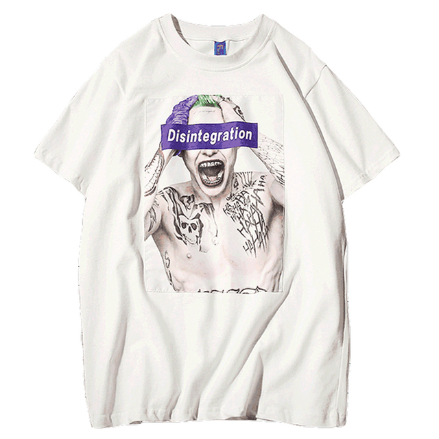 Rock t Shirt Men Funny Harajuku Horror Cool Mens t Shirts Urban Hip Hop  Streetwear Reggae Joker Punk Casual t-Shirt Man Dx5024 8a35068a1b7