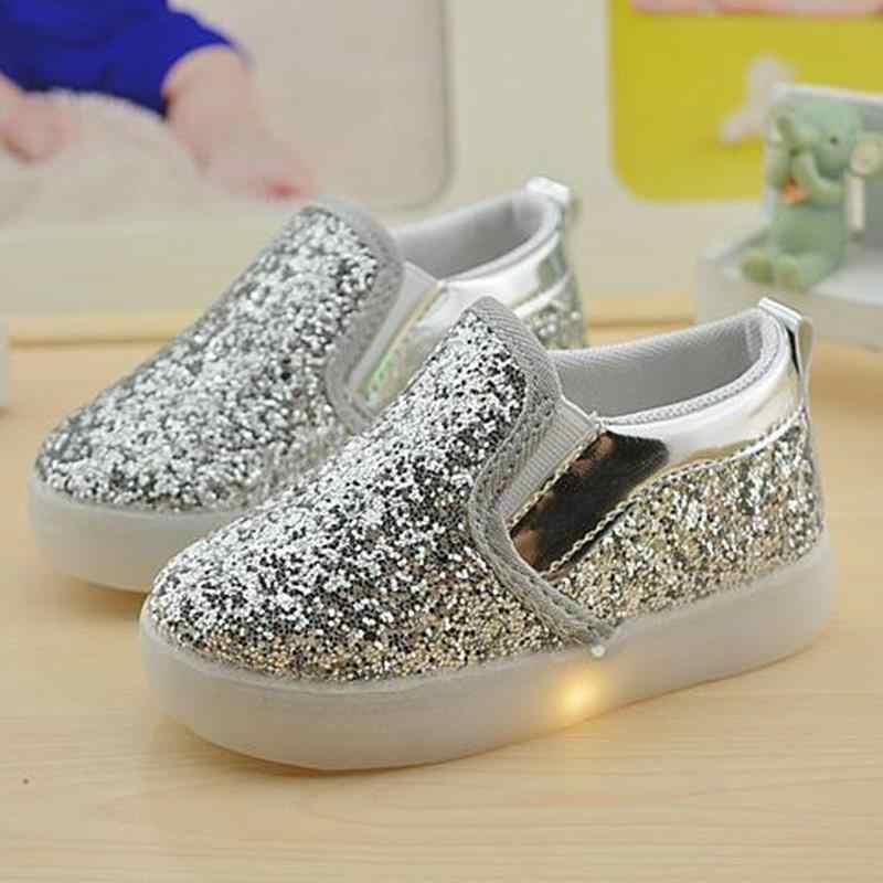 306ef93d0 Baby Girls boy LED Light Shoes Toddler Anti-Slip Sports Boots Kids Sneakers  Children Cartoon