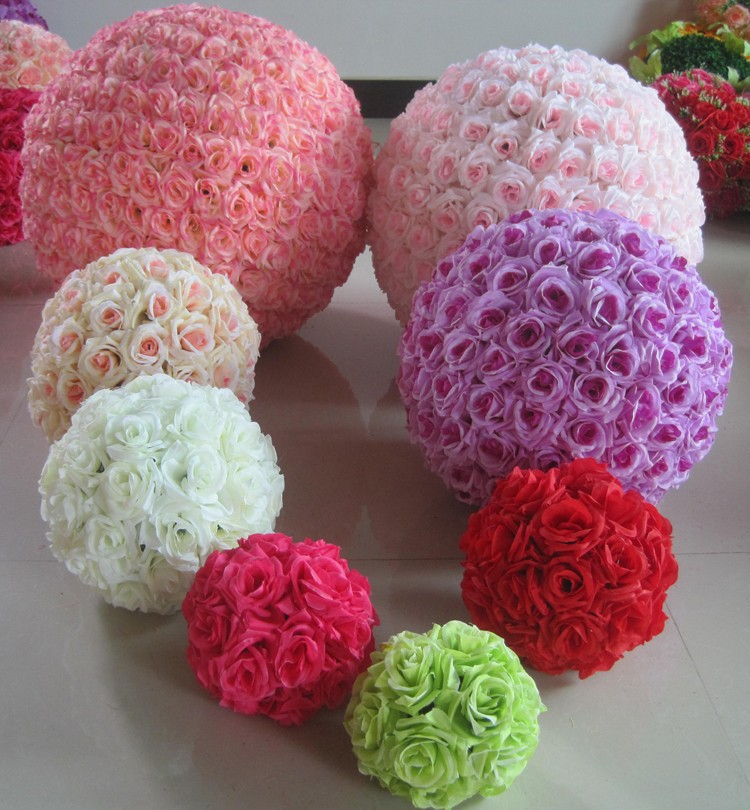 10inch (25cm) Wedding Kissing Balls Pomanders Romantic Silk Flower Kissing Balls Factory Wholesale (2)