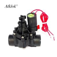 Irrigation 3/4 1 Water Solenoid Valve 220v 24v 12v 110v Latching coil with Adjust flow Function