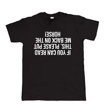 If You Can Read This, Mens Funny Equestrian T Shirt - Fathers Horse Gift Him Dad Tops Tee New Unisex free shipping