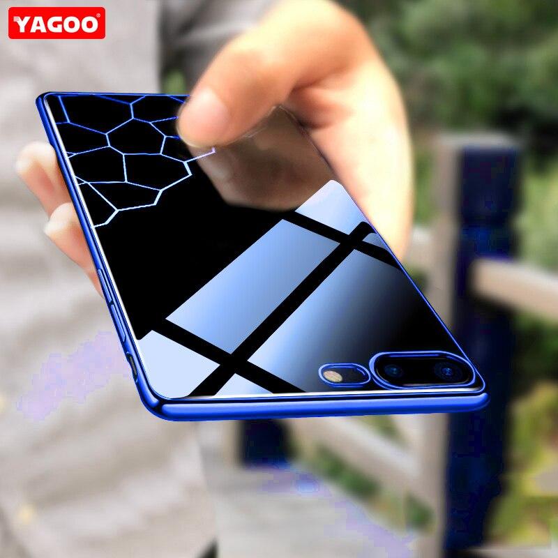 Per iphone 7 per il caso di iphone 7 plus caso di lusso in silicone TPU duro della copertura posteriore 360 armatura antiurto 4.7 5.5 pollice coque funda YAGOO