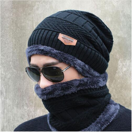 2017 knitted hat fashion Beanies Knit Men's Winter Hat Caps Skullies Bonnet For Men Women Beanie Casual Warm Baggy Bouncy 6color fashion unisex knitted hat beanies knit men warm winter sets hat scarf collar caps women skullies bonnet beanie casual baggy
