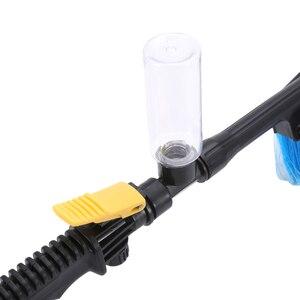 Image 5 - Długa rączka samochodowa miękka szczotka do mycia urządzenia do oczyszczania przełącznik przepływu wody butelka piankowa Spray Wheel karoseria szczotka do mycia przedniej szyby
