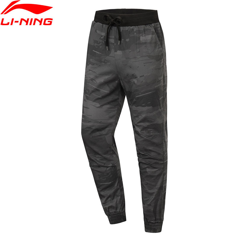 Li-Ning Men Basketball Series BAD FIVE Sweat Leisure Pants Cotton Regular Fit Pocket Trousers LiNing Sports Pants AKXP059 JAS19(China)