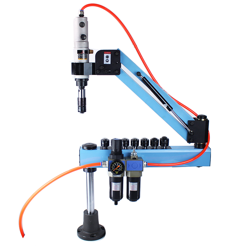 M3-M16 Automatic Pneumatic Tapping Machine Air Tapper Tool Threading Machine With Working Reach 1000MM
