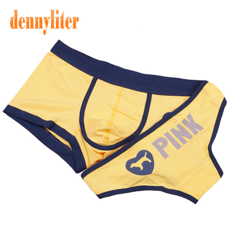 Dennyliter Couple Underwear Yellow Cotton Cartoon -6042