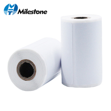 10 rolls /lot Milestone 57mm Thermal Printing Paper for Thermal Printer Barcode Sticker/Label/Adhensive Thermal Type low price rs232 or ttl 2 inch embedded thermal printing solution automatic paper loading support multi barcode printing