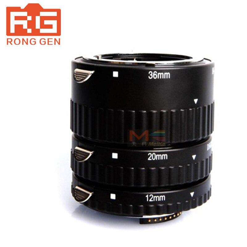 Meike MK-N-AF-A mise au point automatique en métal AF Tube d'extension Macro pour appareil photo Nikon D60 D90 D3000 D3100 D3200 D5000 D5100