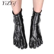 YiZYiF, унисекс, носки с пальцами, сексуальные, Wetlook, лакированные кожаные носки, блестящие, металлические, латексные, резиновые, Клубные, короткие носки, для мужчин и женщин, забавные носки