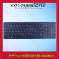 New original RUSSIA Laptop keyboard for Lenovo Ideapad T4B8 Y580 Y580N  with backlit RU Black keyboard  MP-11G63SUJ686W