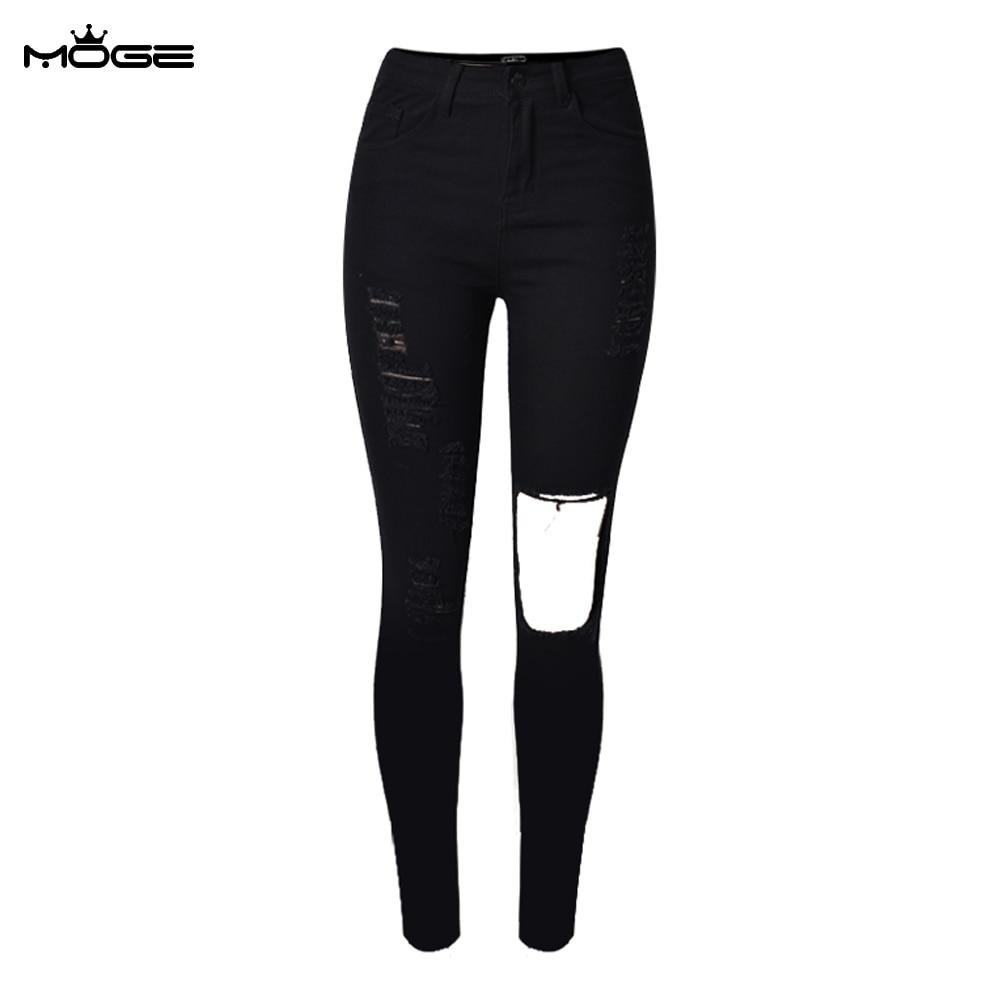 Black Distressed Jeans - Xtellar Jeans