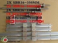 2 шт. SBR16 линейные направляющие L = 350/1000/1500 мм + 2 шт. СФУ/RM1605 ballscrew L 1450MM + 1XSFU1605 L 350/950 мм + 3 мяч винт ballnut