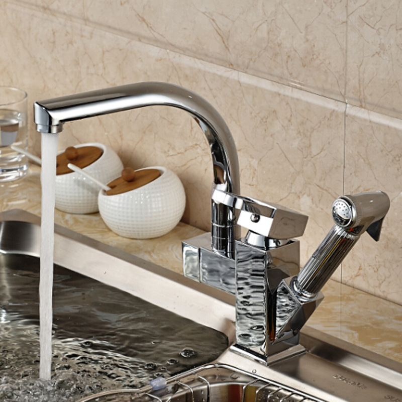 High Quality Brass Spray Kitchen Faucet Pullable Rotate 360 Degree Sink Faucet Multi-function Washing Desk Mounted Cold and HotHigh Quality Brass Spray Kitchen Faucet Pullable Rotate 360 Degree Sink Faucet Multi-function Washing Desk Mounted Cold and Hot
