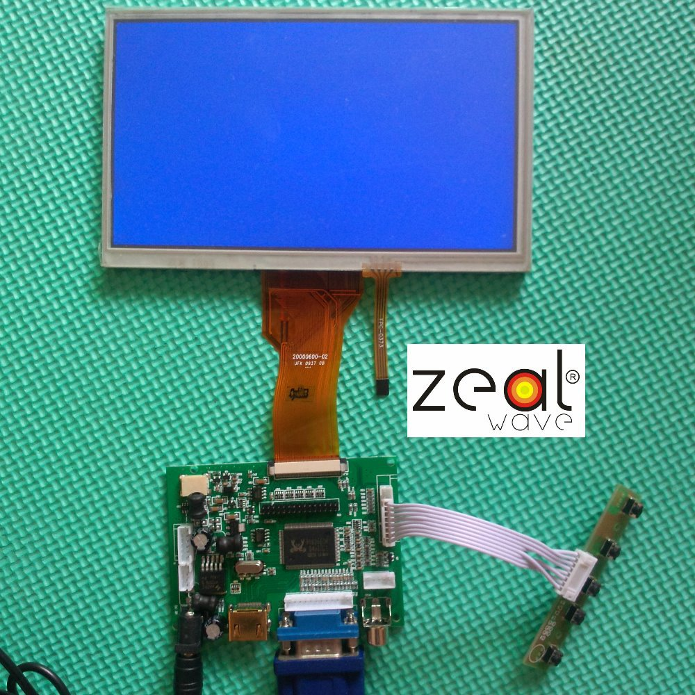 50 pin 7 INCH TFT LCD Module + Touch Panel+ HDMI& VGA&2AV A/D Board 800*480 Resolution DIY CAR PC Display Screen