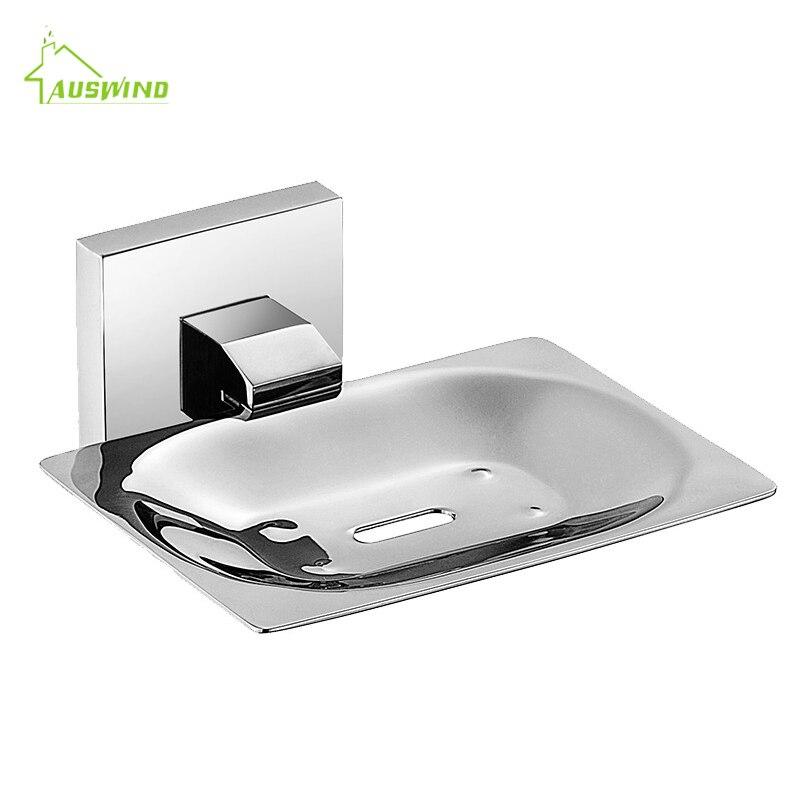 Moderne SUS 304 acier inoxydable salle de bain titulaire moderne lisse miroir salle de bains accessoires matériel Set porte-savon - 2