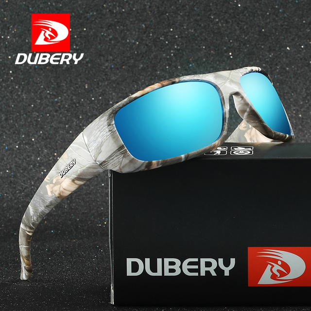 148184c205 Gafas De Sol polarizadas para hombre DUBERY para conducir senderismo pesca  Retro Marco De camuflaje Gafas