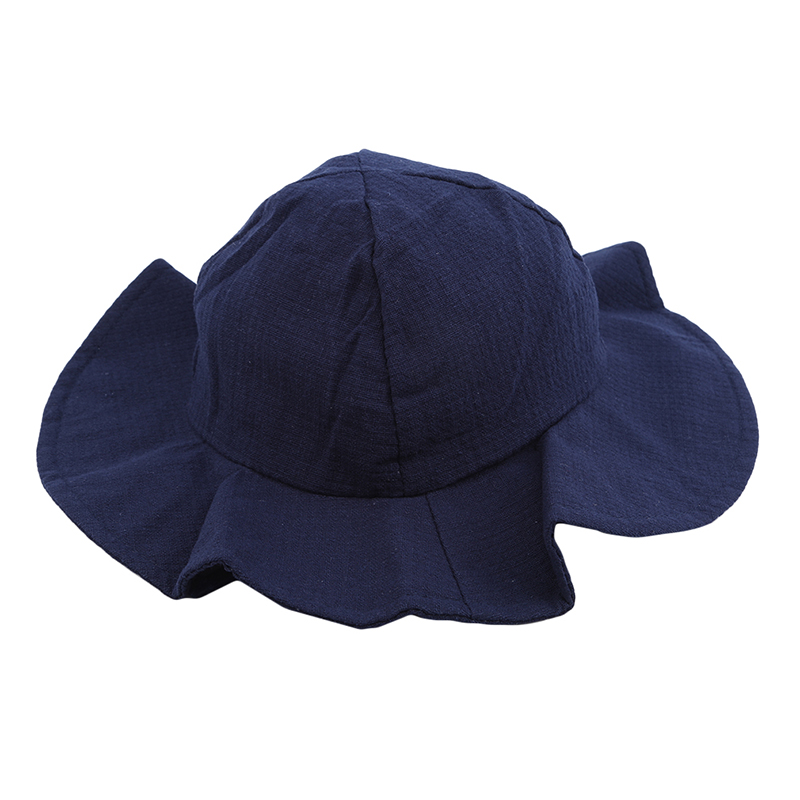Multi-color summer fisherman hat children sunscreen bucket hat boy girl wide-brimmed beach hat