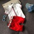 2 unids NUEVO Bebé Niños Camiseta de Manga Corta Tops + Pantalones Cortos de Los Cabritos Ropa Casual
