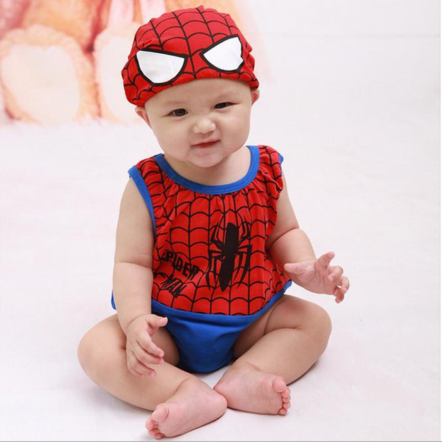 a67e0f9ce Hot Sale 2018 New Cartoon Spiderman Long Sleeve Cotton Newborn Baby ...