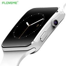 """Floveme hombres mujeres smart watch para el teléfono android de apoyo max tf tarjeta de 32 gb sim bluetooth smartwatch 1.54 """"hd ogs muñeca pulsera"""