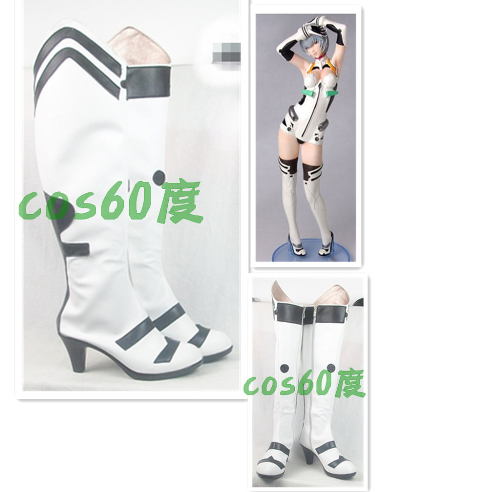 Evangelion AYANAMI REI REI White Cosplay Shoes Boots S008