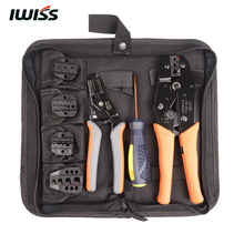 IWISS IWS-30J Crimping Tool Kit includes HS-30J Crimper FSA-0626 Stripper with 5 exchangeable die set A30J A03B A10 A26TW A35WF(China)