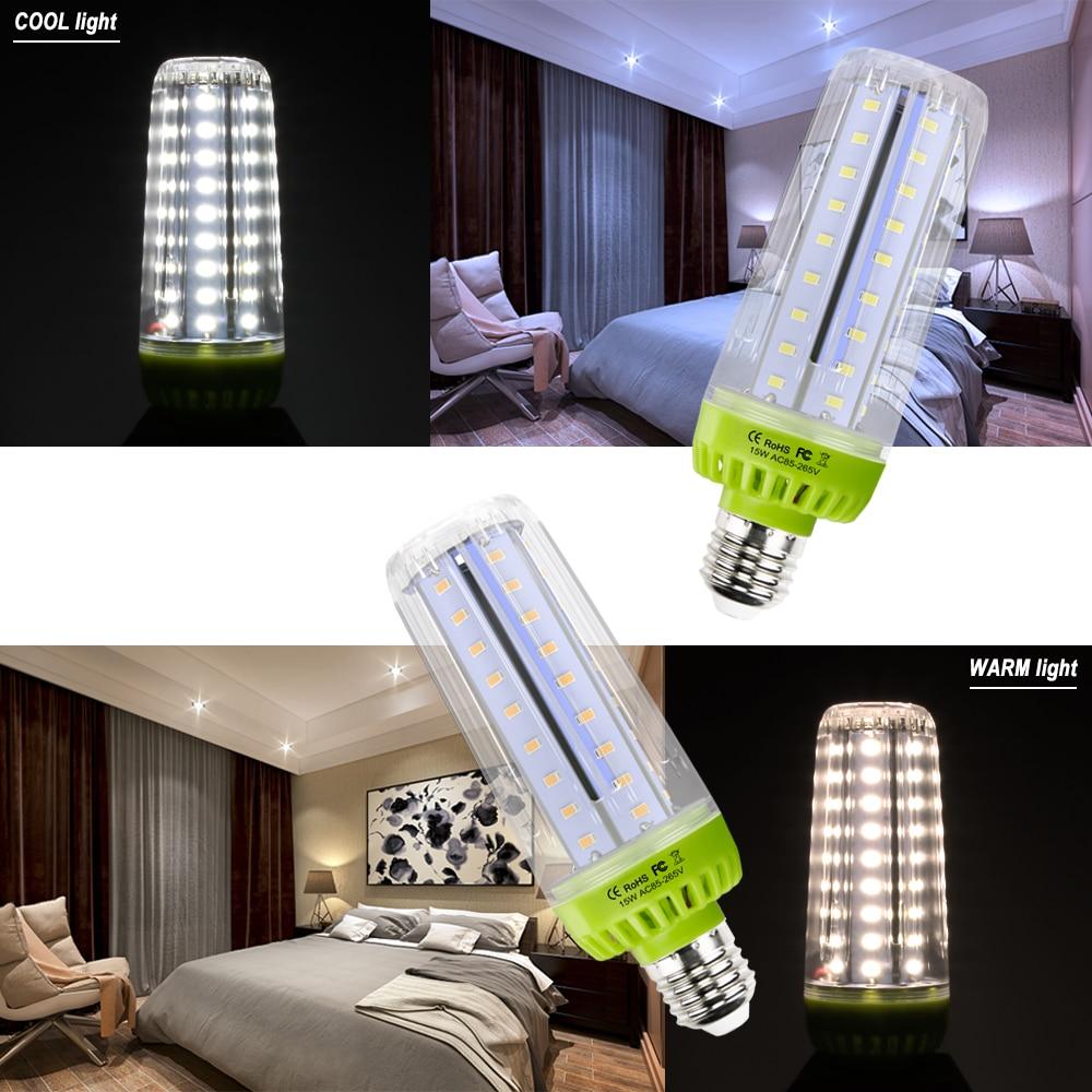 WENNI E27 Corn LED Lamp 110V LED Bulb E14 Candle Light Bulb 10W 15W 20W Ampoule LED 220V Light No Flicker Energy Saving Lighting in LED Bulbs Tubes from Lights Lighting