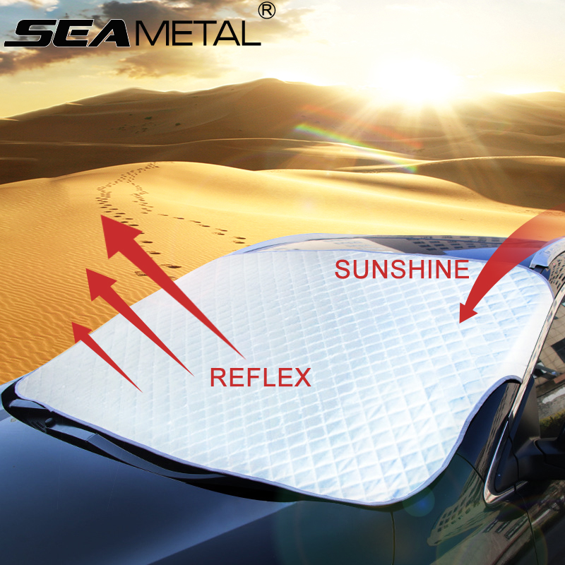 Car Window Sunshade Windshield Covers Snow Sun Shade Protection Windscreen Sunscreen Folding SUV Sedan Front on
