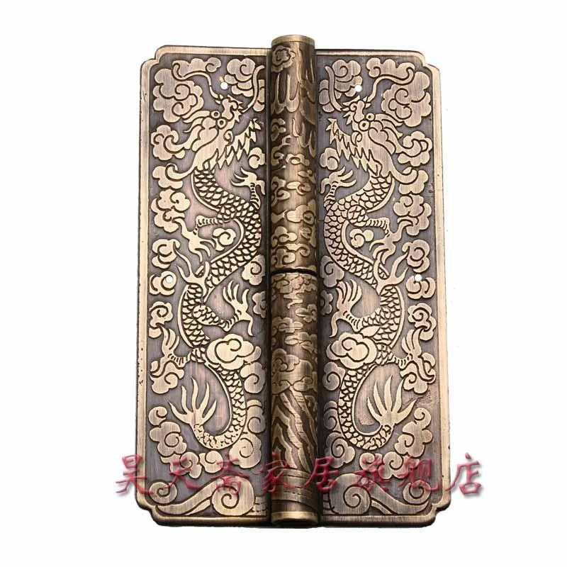 ФОТО [Haotian vegetarian] Chinese furniture copper fittings / carved hinge / copper hinge / shake skin HTF-054