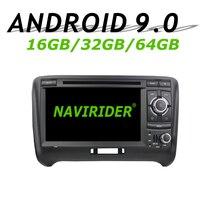 Navirider gps навигации для Audi TT 2006 2007 2008 2013 сенсорный экран dvd автомобиля android 9 64 Гб встроенная память радио проигрыватель вluetooth стерео