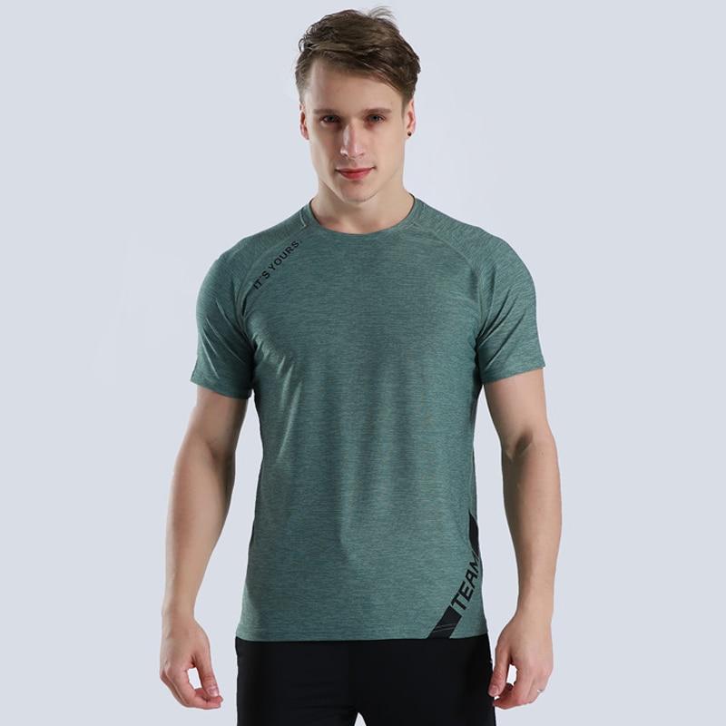 Jogging-Tshirt Dryfit Fitness Sport Workout Gym Men Camiseta Short-Sleeve Crossfit
