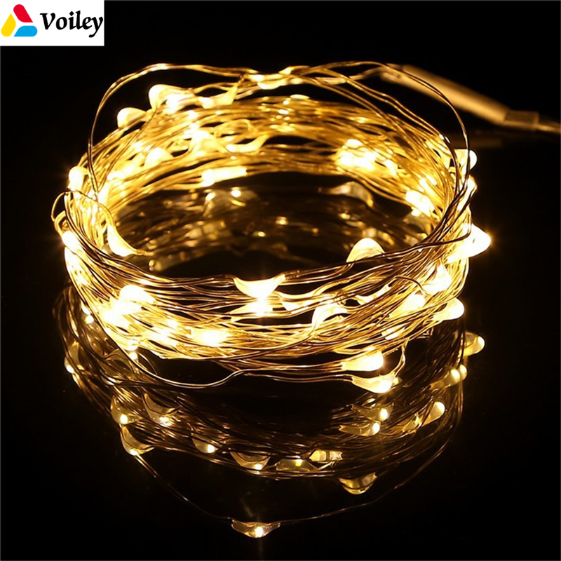 Christmas Decorations for Tree 4M 40 LEDs Warm White Micro Copper Wire Firefly Fairy Lights Noel 2018 New Year Home Decoration,7