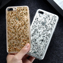 KISSCASE Girly Bling Case For iPhone 6 6s Plus 7 7Plus 5 5s SE Sequin Korean Style Coque Slim Cover For iPhone 6 S 7 Plus Fundas