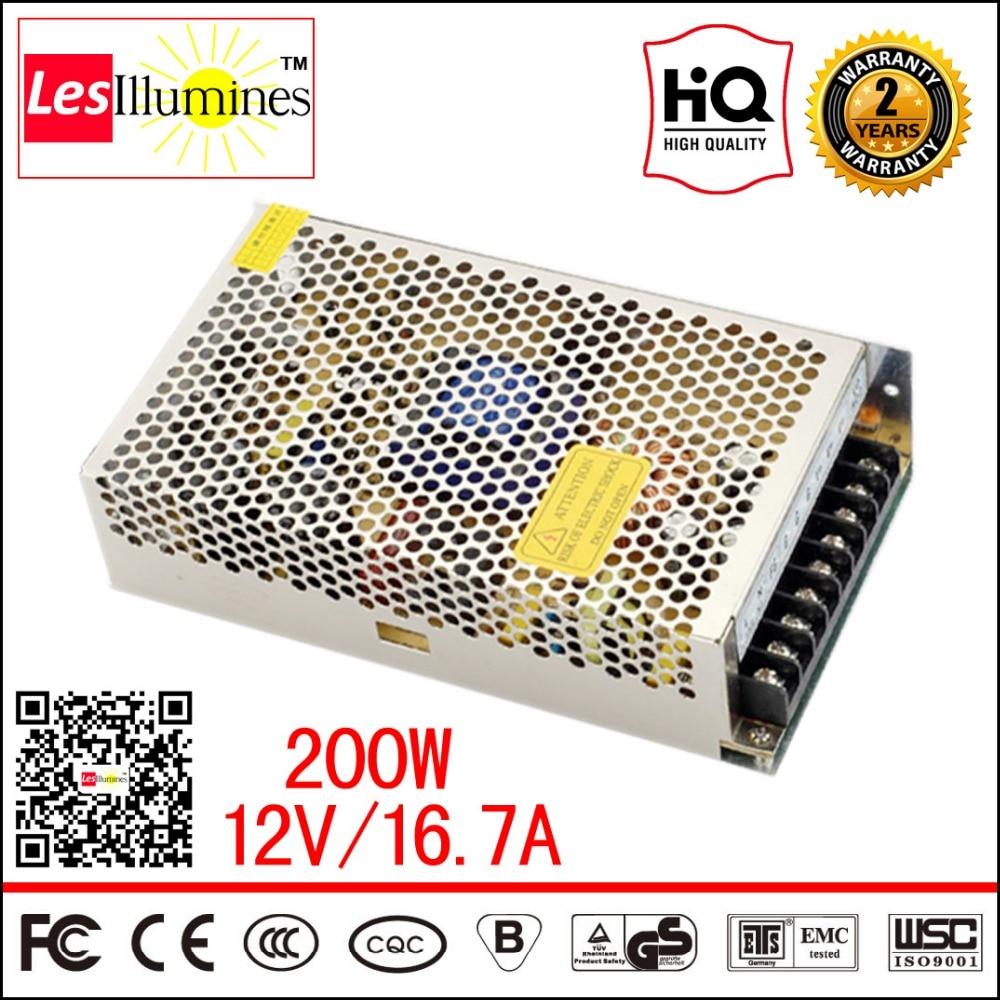 110V 220V to 12V S-200-12 CCTV PSU Block AC/DC Power Adapter 12 V LED Driver CE 12V 16A 200W LED Strip Light Switch Power Supply 4pcs 12v 1a cctv system power dc switch power supply adapter for cctv system