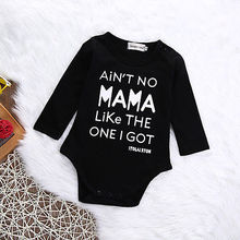 Baby Girl Clothes Baby Boy Long Sleeve Bodysuit Black Letter Jumpsuit Newborn Infant Outfits Set