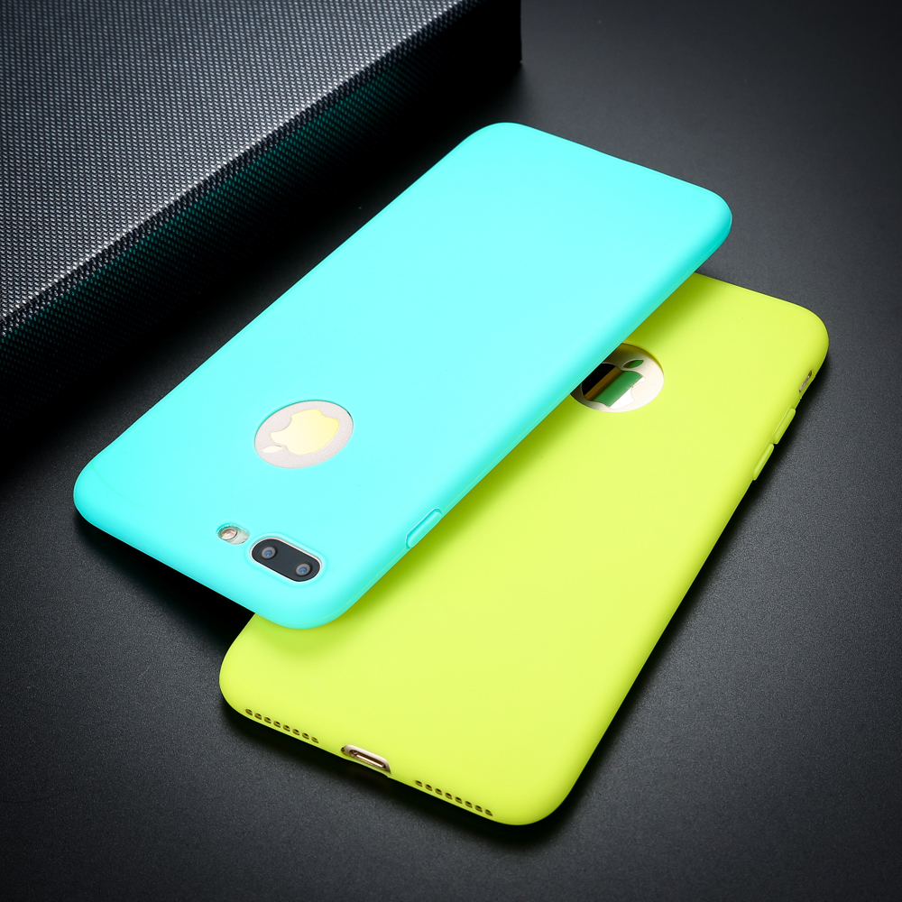 Solid Candy Color Matte Skin <font><b>Case</b></font> for <font><b>iPhone</b></font> 6 <font><b>6s</b></font> 7 Plus SE 5 5s Ultra Thin Soft TPU Rubber <font><b>Silicone</b></font> Back Cover Phone <font><b>Cases</b></font> Capa image