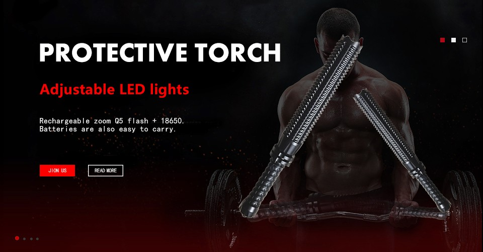 2 telescoping led flashlight zoomable rechargeable torch