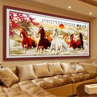 DIY 5D Diamonds Embroidery Eight Horses Win Instant Success Magic Cube Round Diamond Painting Cross Stitch