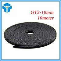 10meter GT2 10mm Open Timing Belt Width 10mm GT2 Belt GT2 10mm For Mendel Rostock CNC