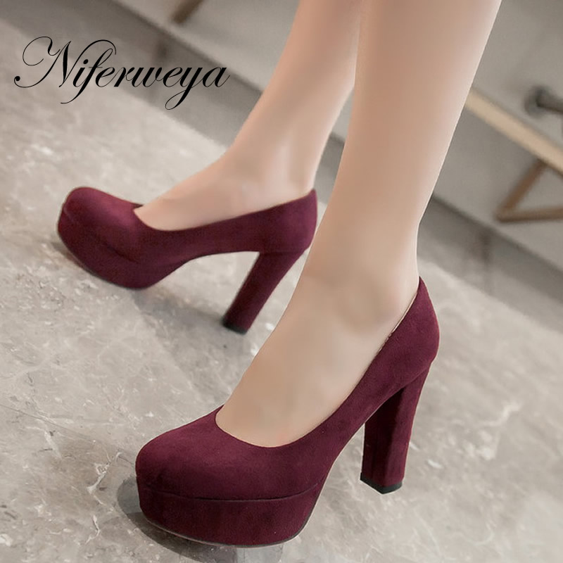 Hot sale! Big size 32-43 fashion spring/autumn women party shoes sexy solid suede Platform high heels zapatos mujer AUGZ-420-2 hot sale big size 32 44 fashion spring autumn women shoes sexy solid pu leather platform ankle strap high heels augz 958