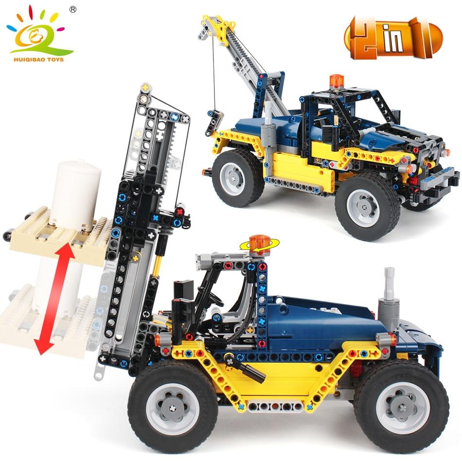 602 шт. 2in1 инженерный погрузчик строительные блоки Совместимость с legoingly техника Город Строительство крановые модели игрушки для детей