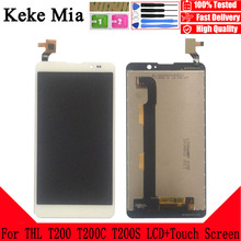 Keke Mia 5.0 New Original For THL T200 T200C T200S CellPhone LCD Display + Touch Screen Digitizer Assembly Replacement Glass