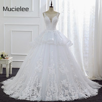 Vestido De Noiva Princesa China Bridal Gowns Vintage Lace White Wedding Dresses Newest Country Western Wedding