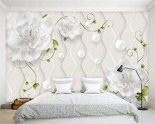 Купить с кэшбэком beibehang Custom wallpaper mural modern hand-painted art floral TV background wall wall papers home decor papier peint wallpaper