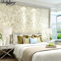 Beibehang壁紙現代のシンプルなツリー葉壁紙環境保護リビングルーム寝室のテレビの背景壁紙