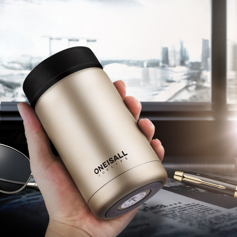 ONE IS ALL Mannen Gift Thermos Flessen 400 ml Geïsoleerde Cup 304 Rvs Thermo Mok Waterfles Thermoskan Koffie Wijn Mok