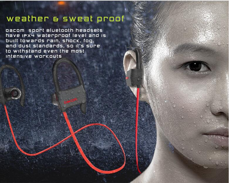 DACOM G18 Bluetooth 4 1 Headset IPX4 Waterproof Wireless Sport Headphone with Microphone Handsfree Noise Cancelling